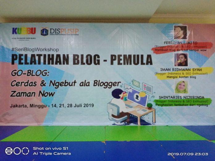 pelatihan blog pemula