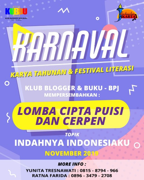 lomba cipta puisi dan cerpen karnaval 2019 - kubbu.net